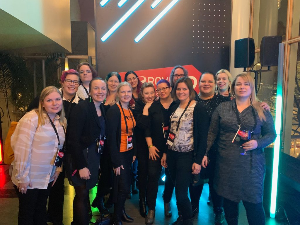 Women in Games Finland ry members and activities.