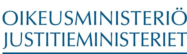 Oikeusministeriö logo